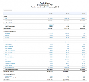 Profit & Loss - Balance Sheet
