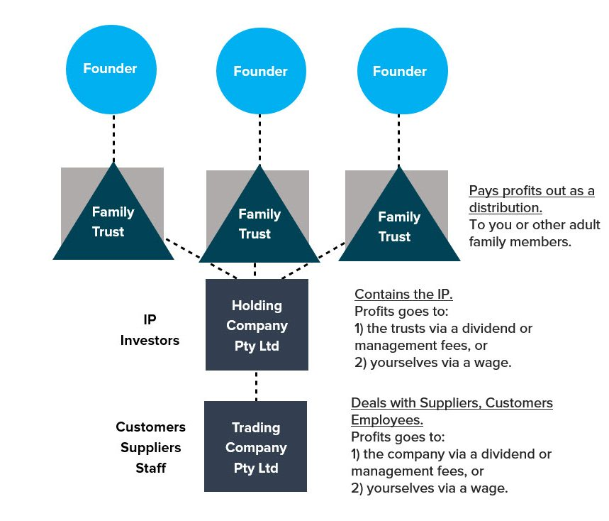 group structure trust corporate trustee holding company trading company